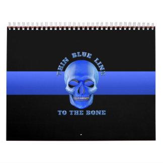 Blue Line fino al hueso Calendarios De Pared