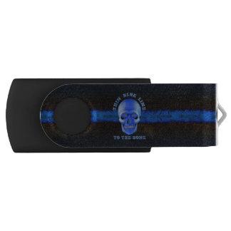 Blue Line fino al hueso Pen Drive Giratorio USB 2.0
