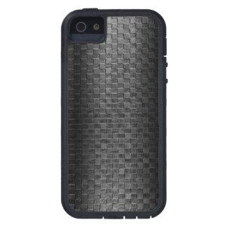 Blue Line fino - armadura de cesta de cuero de la iPhone 5 Case-Mate Fundas