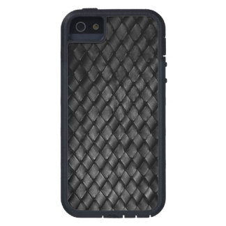 Blue Line fino - armadura de cesta de cuero de la iPhone 5 Fundas