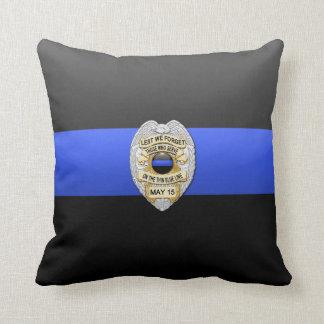 Blue Line fino Badge Cojín
