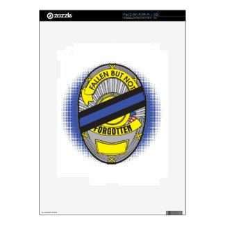 Blue Line fino Badge iPad 2 Calcomanías
