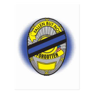 Blue Line fino Badge Postales