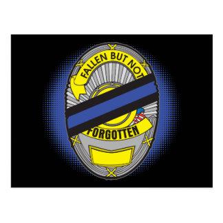 Blue Line fino Badge Tarjeta Postal