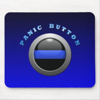 Blue Line fino - botón de pánico Alfombrillas De Ratón
