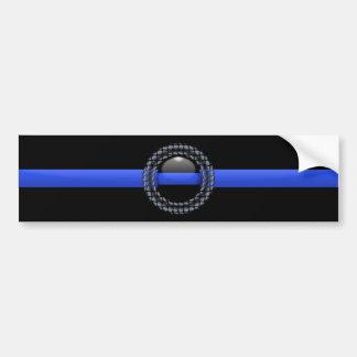Blue Line fino Pegatina De Parachoque