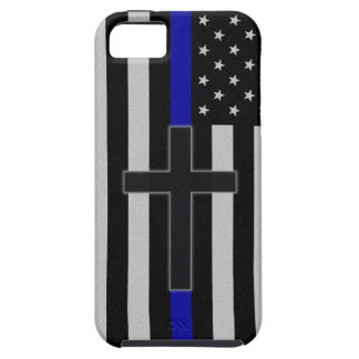 Blue Line fino cruza Funda Para iPhone SE/5/5s