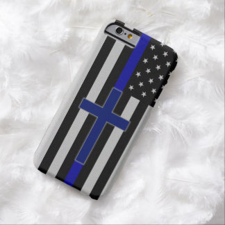 Blue Line fino cruza - la caja cruzada azul del Funda Para iPhone 6 Barely There