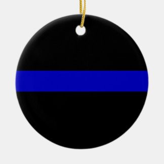 Blue Line fino Adorno De Navidad