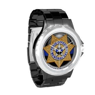 Blue Line fino - diputado Badge Relojes De Pulsera