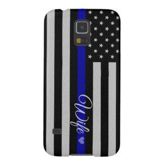 Blue Line fino diseña Carcasas Para Galaxy S5