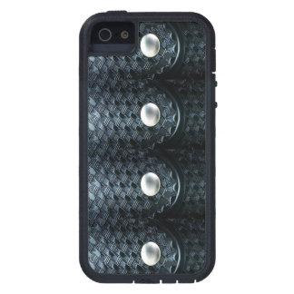 Blue Line fino - encargados de la correa de la arm iPhone 5 Case-Mate Cárcasa
