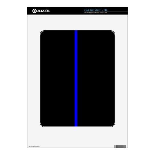 Blue Line fino iPad Skin