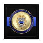 Blue Line fino - la policía desafía la caja de mon Caja De Joyas