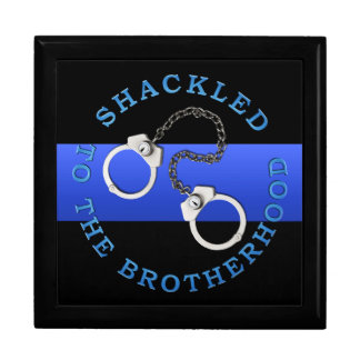 Blue Line fino - la policía desafía la caja de mon Joyero Cuadrado Grande