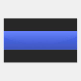 Blue Line fino limpia el partidario Pegatina Rectangular