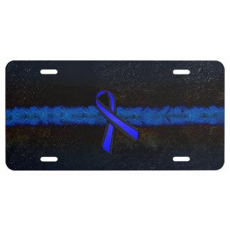 Blue Line fino limpia la cinta Placa De Matrícula