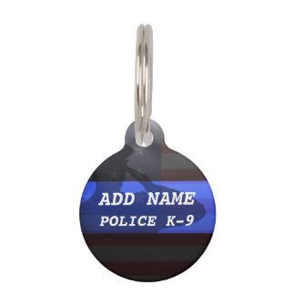 Blue Line fino limpia la placa de identificación K Identificador Para Mascotas
