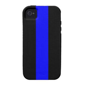 Blue Line fino llama por teléfono/la caja de la Vibe iPhone 4 Carcasa
