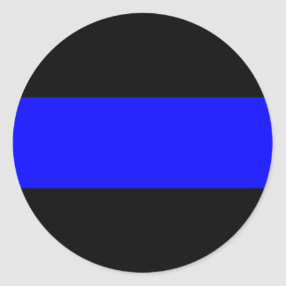 Blue Line fino Etiqueta Redonda