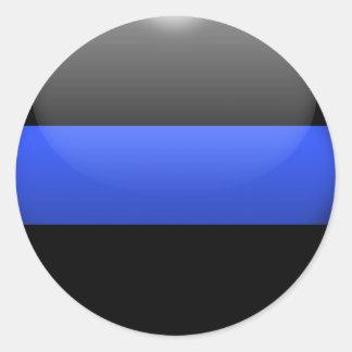 Blue Line fino Pegatina Redonda