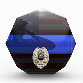 Blue Line fino - policía placa del premio de 10