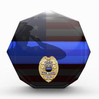 Blue Line fino - policía placa del premio de 30