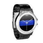 Blue Line fino - policía Relojes De Mano