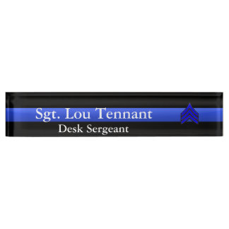 Blue Line fino - sargento Stripes Rank