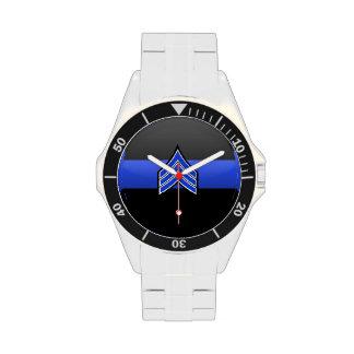 Blue Line fino - sargento Stripes Reloj