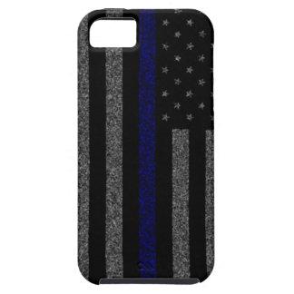 Blue Line fino señala la caja del iPhone por medio iPhone 5 Case-Mate Carcasa