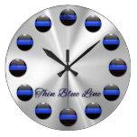 Blue Line fino señala los botones del embutido por Reloj De Pared