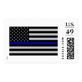 Blue Line fino señala por medio de una bandera Sello