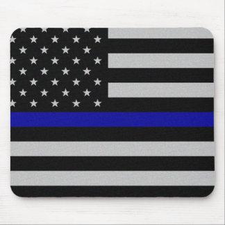 Blue Line fino señala por medio de una bandera Alfombrilla De Ratón
