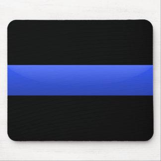 Blue Line fino señala por medio de una bandera Tapete De Ratones