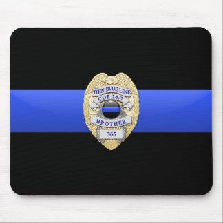 Blue Line fino señala por medio de una bandera y B Mousepad