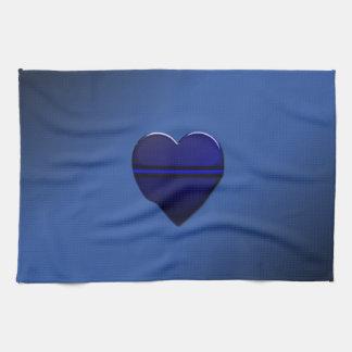 Blue Line fino señala por medio de una bandera y B Toallas De Mano