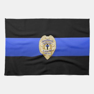 Blue Line fino señala por medio de una bandera y B Toallas De Cocina