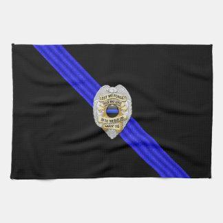 Blue Line fino señala por medio de una bandera y B Toalla De Mano