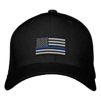 Blue Line fino simbólico en los E.E.U.U. señala Gorras De Beisbol Bordadas