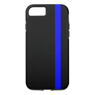 Blue Line fino simbólico en negro Funda iPhone 7