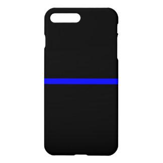 Blue Line fino simbólico en negro sólido Funda Para iPhone 7 Plus