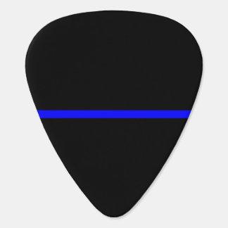 Blue Line fino simbólico en negro sólido Púa De Guitarra