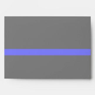 Blue Line fino simbólico Sobre
