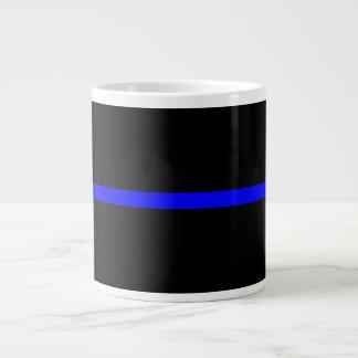 Blue Line fino simbólico Taza Grande