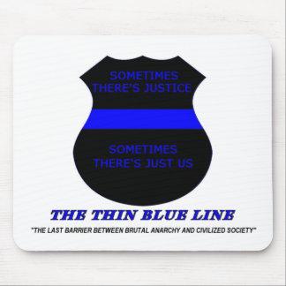 Blue Line fino Tapete De Ratón