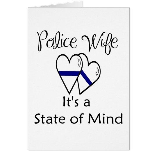 blue line hearts card
