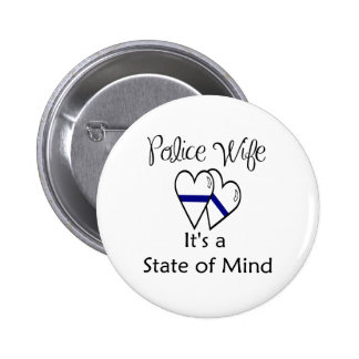 blue line hearts - Customized 2 Inch Round Button