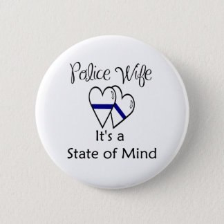 blue line hearts - Customized Button