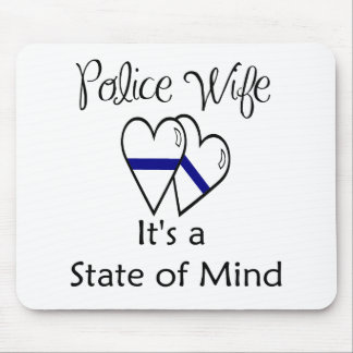 blue line hearts mouse pad